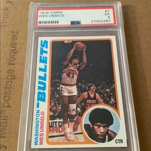 1978 topps Wes Unseld psa